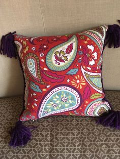 Star Stitched - One-of-a-kind pillows! my Etsy shop https://www.etsy.com/listing/493439286/the-paisley-purple-pillow-handknitted