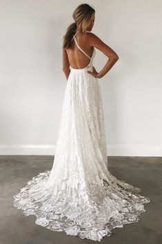 How To Dress For A Wedding, Ivory Lace Wedding Dress, Open Back Wedding Dress, V Neck Wedding Dress, Affordable Wedding Dresses, Wedding Dresses For Sale, Elegant Wedding Dress, Wedding Party Dresses, Elegant Dresses