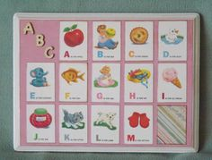 Alphabet Wall Art 2 pink/white wall plaques by JaimeesCreations, $35.00