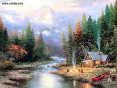 Thomas Kinkade | Thomas Kinkade - End Of Aperfect Day Ii in Drawing & Painting, pic