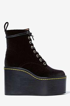 Jeffrey Campbell Commando Velvet Boot | Shop Jeffrey Campbell at Nasty Gal