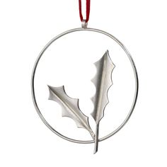 33d6473e6 Holly by Louise Mary Muttitt #Christmas #ChristmasDecorations #Xmas  #XmasDecorations #Silver #