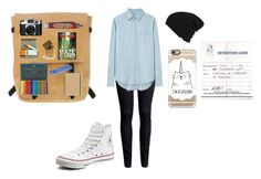 """""""Untitled #188"""" by worthlesschild ❤ liked on Polyvore featuring H&M, Acne Studios, Vans, Converse, Ally Capellino, Casetify, Holga, In God We Trust, Faber-Castell and Paperchase"""