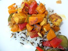 2 VegeLovers: PUMPKIN AND TOFU CURRY (gf)