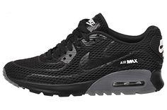 eaff4d7b3e4 Amazon.com  Nike Women s Air Max 90 Ultra Br Black Black White Running Shoe  5.5 Women US  Shoes