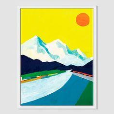 Mizuki Goto Print - Mountain Landscape #westelm