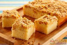 Receita de Bolo farofinha com maçã em receitas de bolos, veja essa e outras receitas aqui!