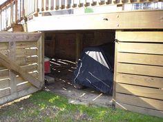 Under Deck Storage by CoopGask, via Flickr