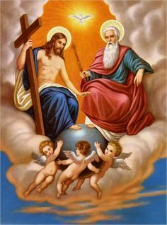 holy trinity at DuckDuckGo Catholic Pictures, Pictures Of Jesus Christ, Religious Pictures, Catholic Religion, Catholic Art, Religious Art, Special Prayers, Jesus Christus, Mary And Jesus
