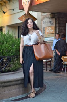 Bay Area Hot Spots {Part One} Oh my god. I need everything about this outfit right NOW. Girl With Curves: Bay Area Hot Spots {Part One} Curvy Girl Fashion, Look Fashion, Trendy Fashion, Plus Size Fashion, Trendy Style, Skirt Fashion, Simple Style, Fashion Ideas, Look Plus Size
