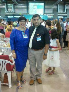 Con mi mujer, vestida con Margaux Dress in Electric Blue. IGIGI by Yuliya Raquel