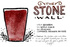 The Best Cocktail Recipes of 2014: http://ohsobeautifulpaper.com/2015/01/best-of-2014-the-best-cocktail-recipes/ | The Stone Wall | Illustration: Shauna Lynn #OSBPhappyhour