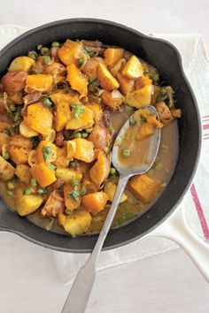 Curried Pumpkin and Peas