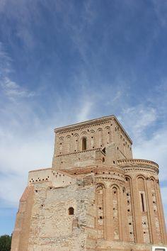 una de las joyas del románico-mudejar español ,la inacabada ermita de la Lugarejar Arévalo  Avila  Spain