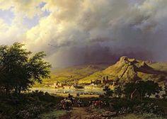Barend Cornelis Koekkoek – Museums Sheffield. A Coming Storm (1855)