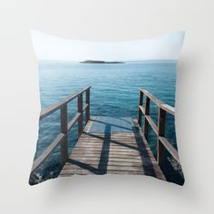 Buy Into the sea Throw Pillow by xiari photography. Worldwide shipping available at Society6.com. Just one of millions of high quality products available.bridge, sea,ocean, beach, summer, wood, wooden, into the sea, dive, jump, summertime, island, duvet, interior design, wall art, art print, frame, framed art, prints, bedroom, living room, tapestry, phone case, photo, photography, image, pic, photograph, pic, nikon, cyprus, pillow