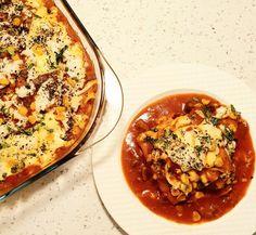 Enchiladas | Mexican Enchiladas Mexican Enchiladas, Cheesy Enchiladas, Italian Dishes, Mexican Dishes, Enchilada Ingredients, Dinner Ideas, Dinner Recipes, Baked Mushrooms, Baked Garlic