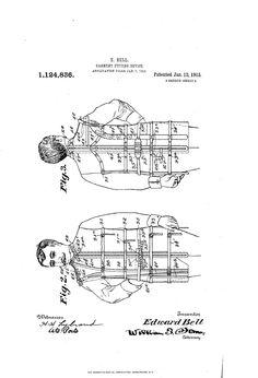 1915 Patent US1124836 - GARMENT FITTING DEVICE - Google Patents