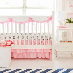 Elegant Gingham Nursery Bedding
