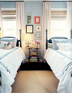 Oh this is so so pretty, it makes me want twin beds