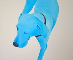 "Saatchi Online Artist: Galo Garcia; Acrylic, 2012, Painting ""Blue dog from Montañita"""
