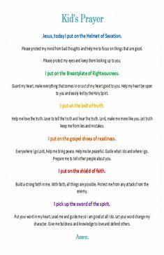 Armor of God - Kid's Prayer