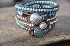 Another Bracelet from me; Wrap Bracelets, Jewels, Fashion, Moda, Jewerly, Fashion Styles, Wire Wrap Bracelets, Gemstones, Fashion Illustrations