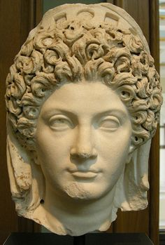 Julia Titi, daughter of Emperor Titus, Roman bust (marble), 1st century AD, (Getty Museum, Los Angeles).