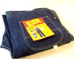 Unused Vintage Men's Denim Overalls   SOLD
