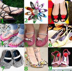 Decorate your shoes!  gonna do this for sure.....