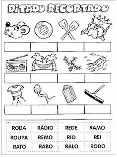 Rosangela.Aprendizagem: Alfabetização-Ditado Recortado