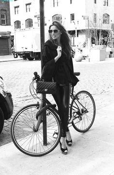 #blackandwhite Chanel and a bike