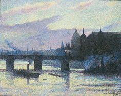 Maximilien Luce, View of London (Cannon Street) (Vue de Londres [Cannon Street]), 1893. Oil on canvas, 65 x 81 cm (25 9/16 x 31 7/8 inches). Private collection ©Maximilien Luce, VEGAP, Bilbao, 2017
