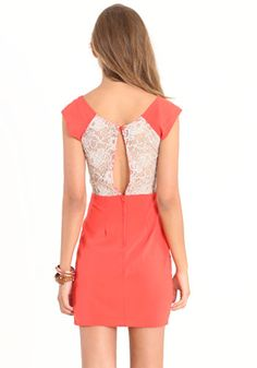 I like this coral, and the lace back.