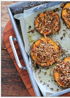 pecan crusted sweet potato with sour cream