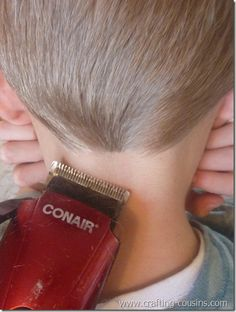 How to Cut a Little Boy's Hair. (Wish I had seen this when my son was little. He still talks about when I clipped his ear with the scissors like I did it no purpose.)