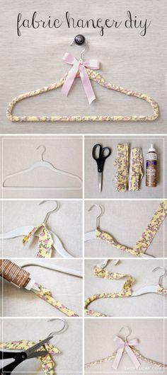 DIY Fabric Clothes Hanger Tutorial