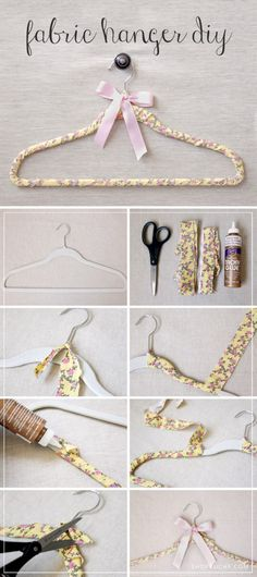 DIY Fabric Clothes Hanger Tutorial