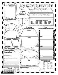Instant Personal Poster Sets: My Magnificent Book Report | Beat the book report blues with this engaging fill-in poster template that prompts each student to tell all about a recently read book!