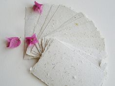 """5 x 7"""" Recycled Paper, Handmade Paper, Bougainvillea, Typewriter Paper, Poetry Paper, Calligraphy Paper, Letter Paper, Floral Paper by FoxHillLlamas on Etsy"""