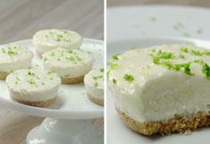 cheesecake de limon Cheesecakes, Feta, Bakery, Food And Drink, Cupcakes, Yummy Food, Sweets, Desserts, Gluten