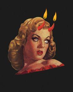 Damn Mini Art Print by xyz_k_ - Without Stand - x Arte Horror, Horror Art, Horror Films, Retro Art, Vintage Art, Vintage Movies, Vintage Horror, Lowbrow Art, Psychedelic Art