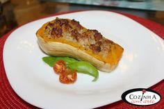 Cozinha com Arte: Abóbora assada no forno com recheio de carne picad...