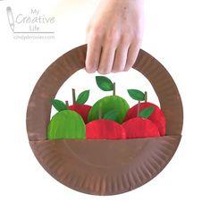 Paper Plate Apple Basket