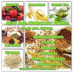 Pre-Workout Food Ideas! This is what I live by.