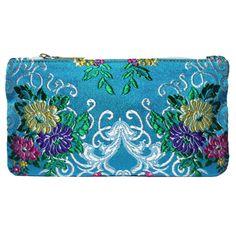 mini portatodo Bolso fallera @ con detalles florales, realizados en tela de seda y cuero. fallera bag with floral pattern. #bag #clutch #bolso http://fallera.com/es/bolsos/bc002012-detail