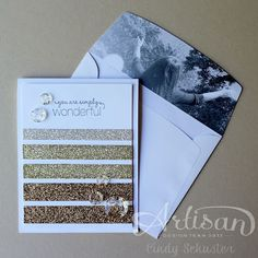 Wednesday, July 31, 2013  My Winning Artisan Entry - Day 1 | The inside of the envelope flap is a black and white photo