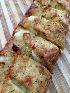 My mother-in-law makes some seriously amazing brie bread. I also just love brie and bread. I figured I would use a different dough than before in an effort to get the calorie and carb counts down j…