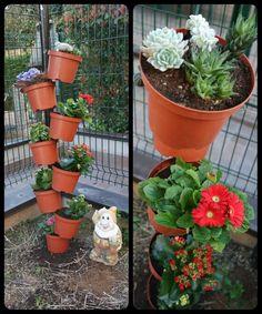 Composizione vasi giardino