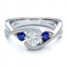 unique Sapphire Engagement Rings | Custom Blue Sapphire and Diamond Engagement Ring | Joseph Jewelry ...